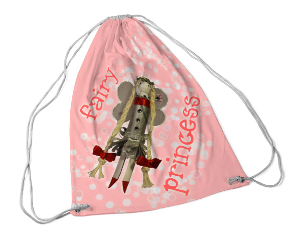 fairy princess draw string bag