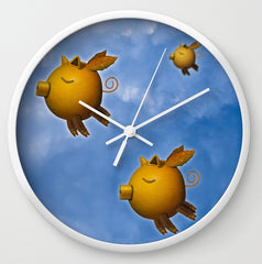 Pigs Can Fly clock