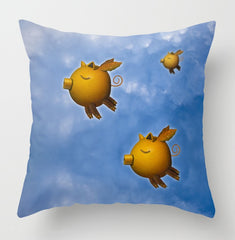 Pigs Can Fly pillow