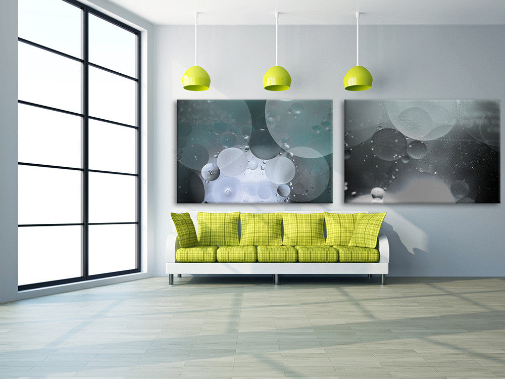Interior view with Metallic dream on canvas