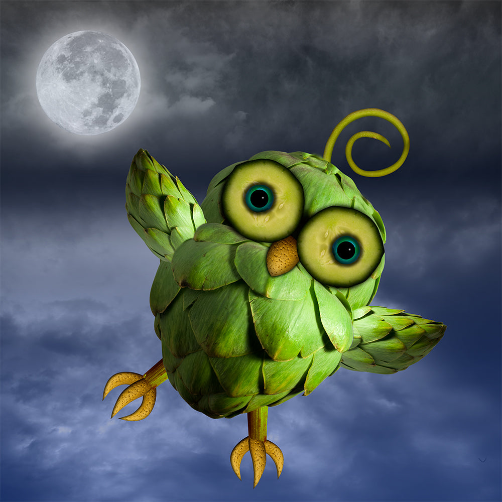 Flying Green Owl