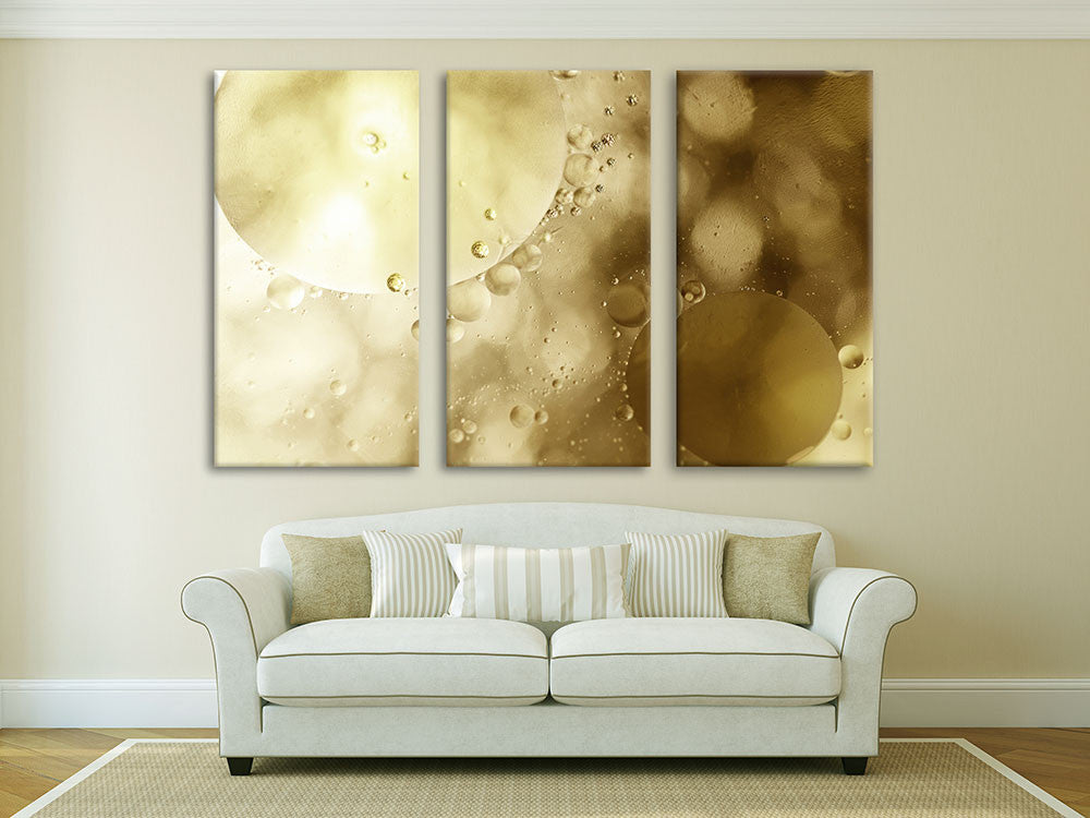 Interior view with Shallow Bubbles on canvas