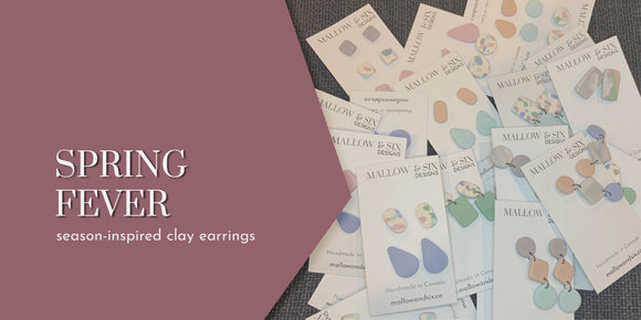 SPRING FEVER - SPRING 2021 Collection. Seasonally inspired clay earrings