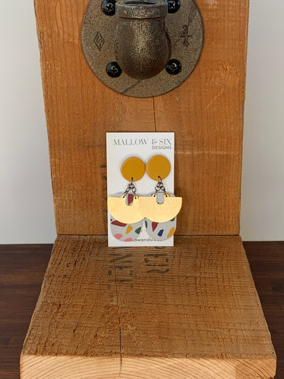 Ochre & Terrazzo Party Earrings