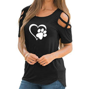 Lovely Heart Casual T-shirt