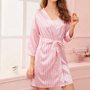 Silk Stripe Bathrobe