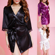 Women's Satin SilkBathrobe