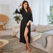Sexy Long Sleeve Casual Bathrobe
