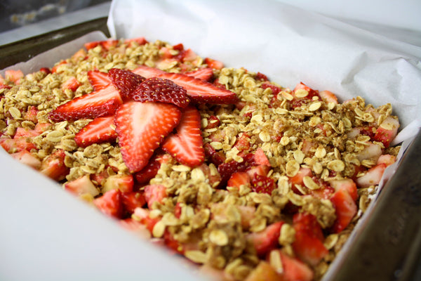 Stir Sweetener Strawberry Breakfast Bars pre-bake