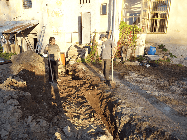 Main sewer pipe installation 08