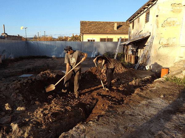 Main sewer pipe installation 10