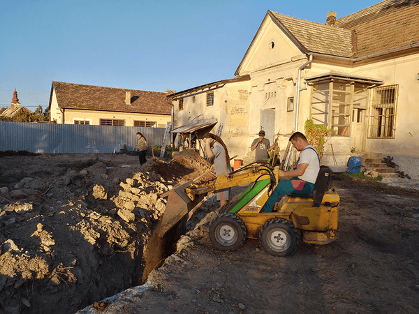 Main sewer pipe installation 11