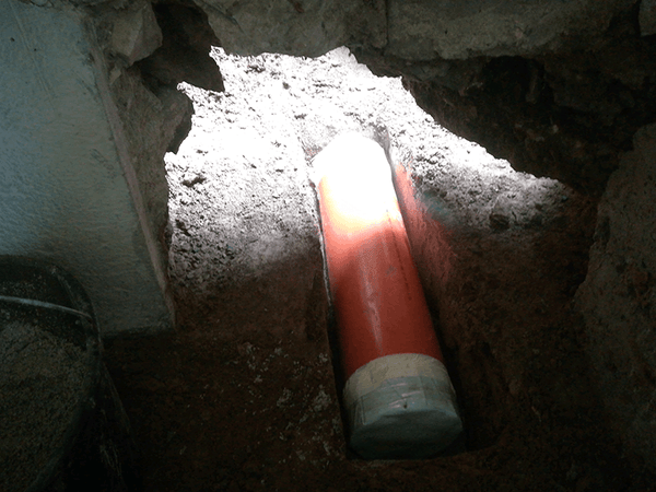 Passage for sewer pipe 02