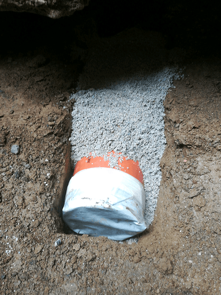Passage for sewer pipe 03