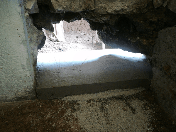 Passage for sewer pipe 05