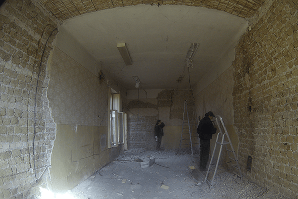 Removal of old plaster 02