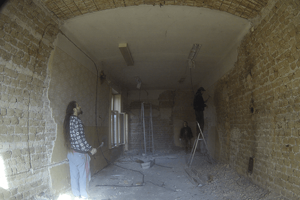 Removal of old plaster 05
