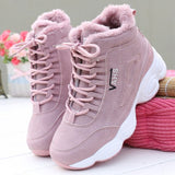 Women's Wedges Sneakers Plush Autumn and Winter Ankle Boots Women Outdoor Sports Shoes Vulcanized Warm Casual Sneakers