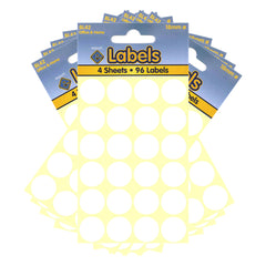 Esposti 18mm Small Colour Coding Dot Stickers - Self Adhesive - White - 10 Packs Containing 960 Labels