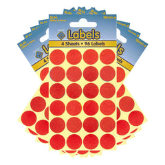 Esposti 18mm Small Colour Coding Dot Stickers - Self Adhesive - Red - 10 Packs Containing 960 Labels
