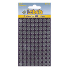 Esposti 8mm Small Colour Coding Dot Stickers - Self Adhesive - Silver Foil - 10 Packs Containing 1920 Labels