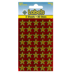 Esposti 14mm Stars Stickers - Self Adhesive - Gold Foil - 10 Packs Containing 800 Labels