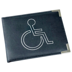 Esposti Disabled Blue Badge & Timer Holder - PU Leather - Hologram Safe - Black