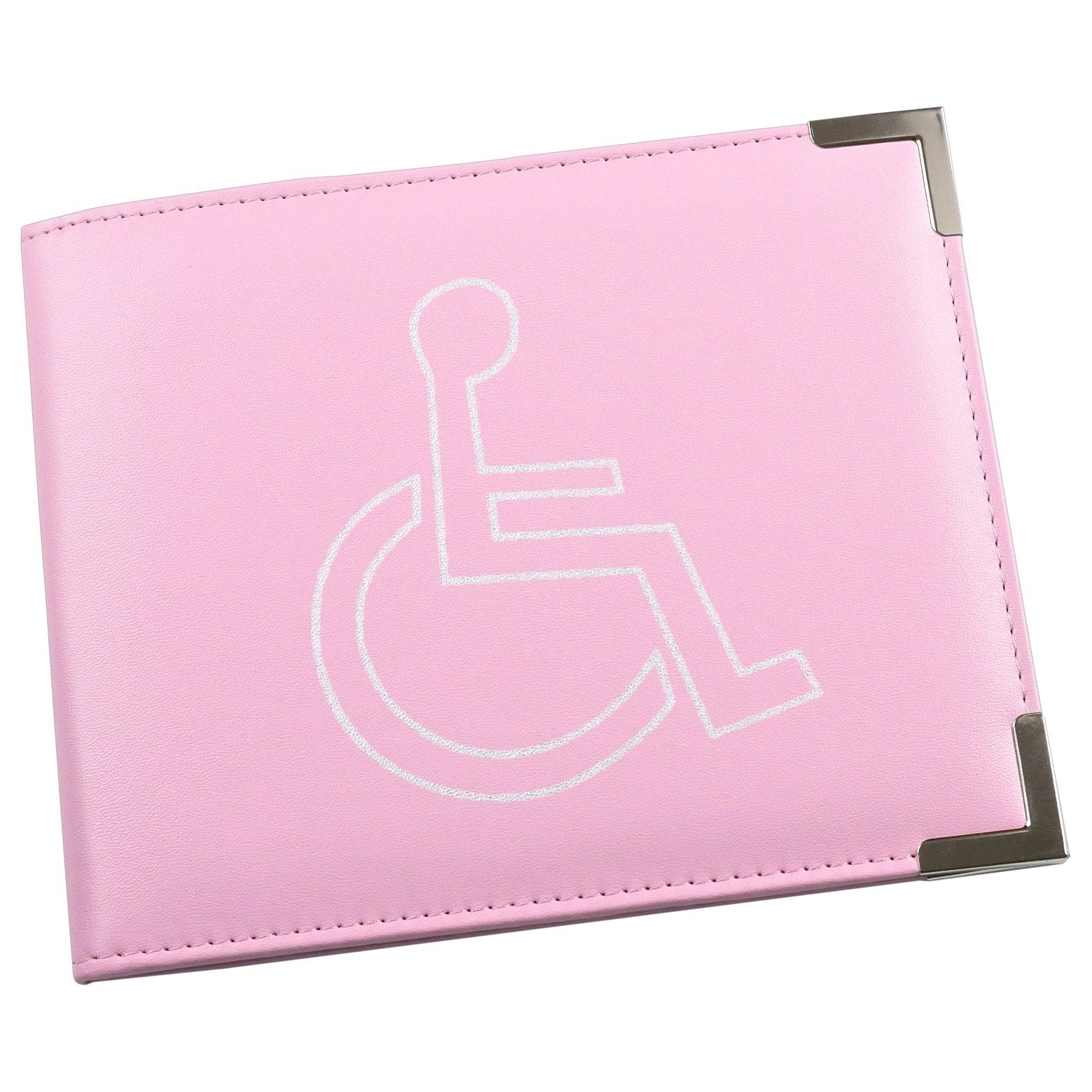 Esposti Disabled Blue Badge & Timer Holder - PU Leather - Hologram Safe - Pink