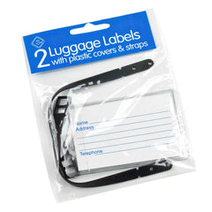 2 Luggage Tags with Straps - Pack of 10