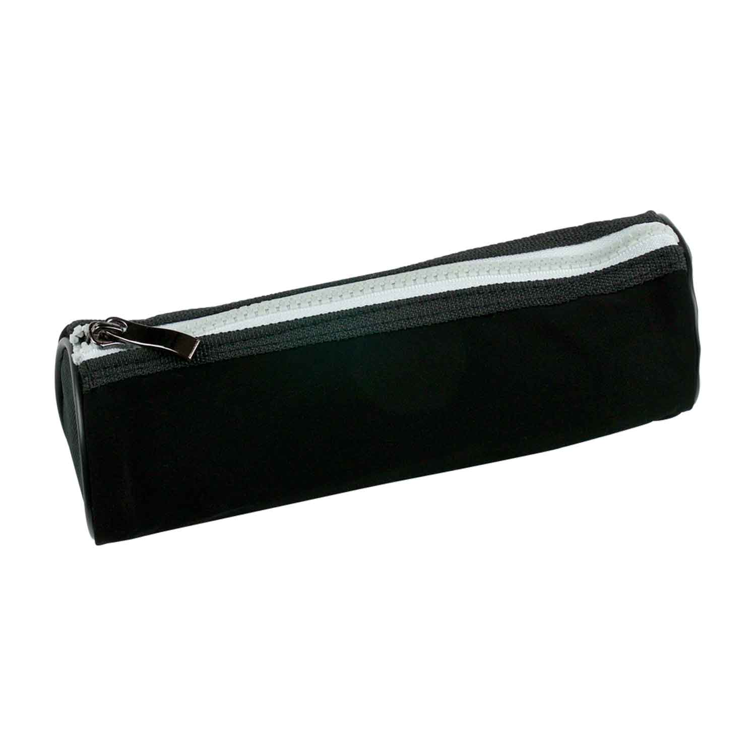 Cylinder Pencil Case - Black/Red - Pack of 12