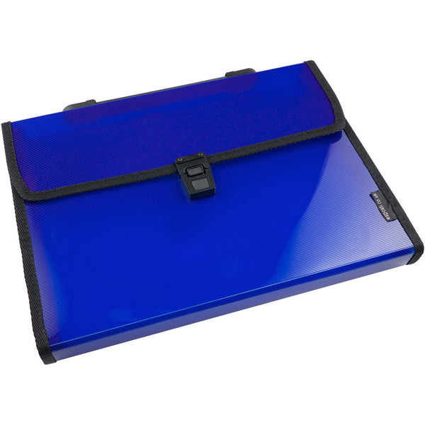 Esposti Expanding File 13 Pocket with Index Tabs - Blue - EL803-blue - 5022383772836