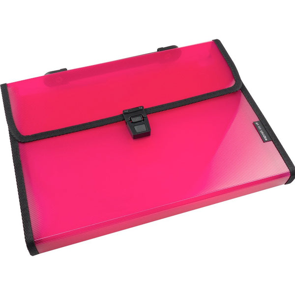 Esposti Expanding File 13 Pocket with Index Tabs - Pink - EL803-pink - 5022383772829