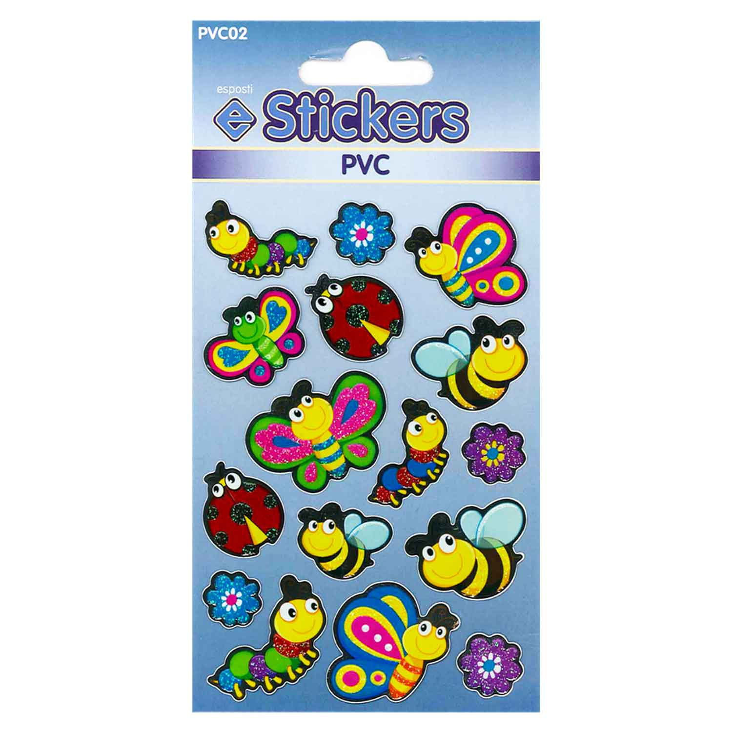 Esposti PVC Bugs Self Adhesive Novelty Stickers - Pack of 10