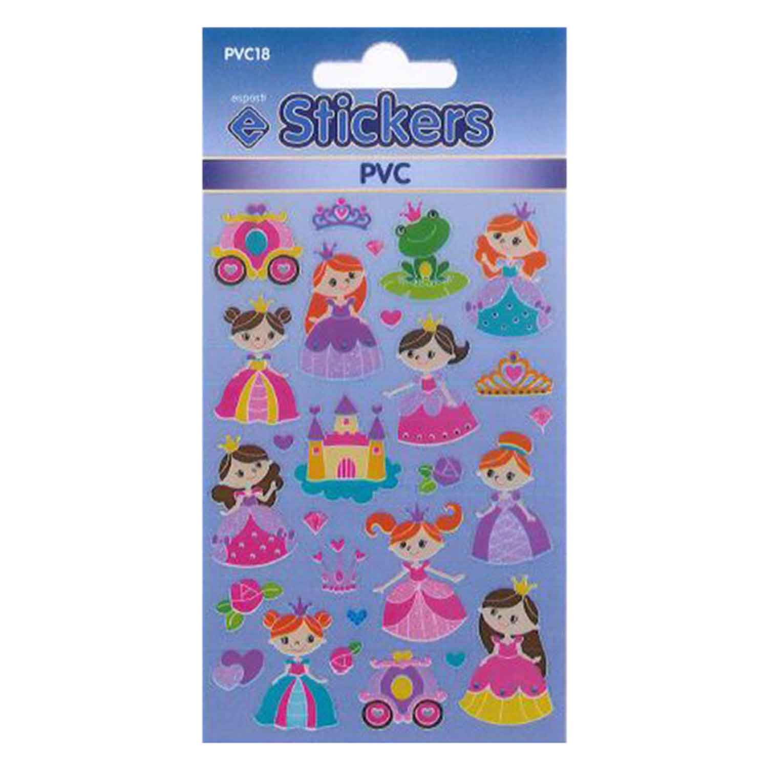 Esposti PVC Princess Self Adhesive Novelty Stickers - Pack of 10