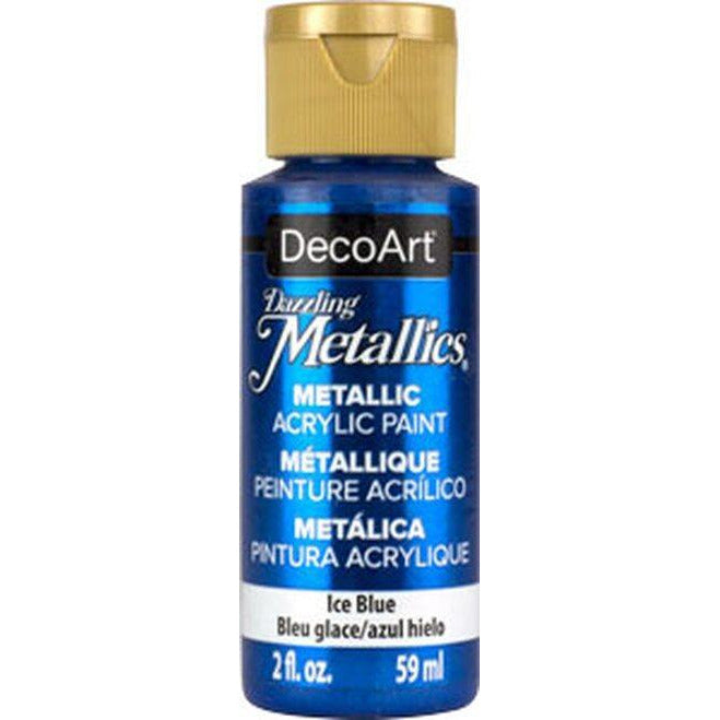 DecoArt 2 fl. oz. Ice Blue Dazzling Metallics Acrylic Paint
