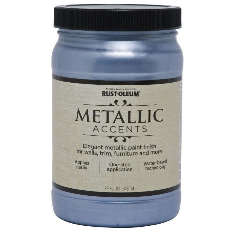 Rust-Oleum Metallic Accents 32 fl. oz. Harbor Sky Elegant Metallic Paint Finish