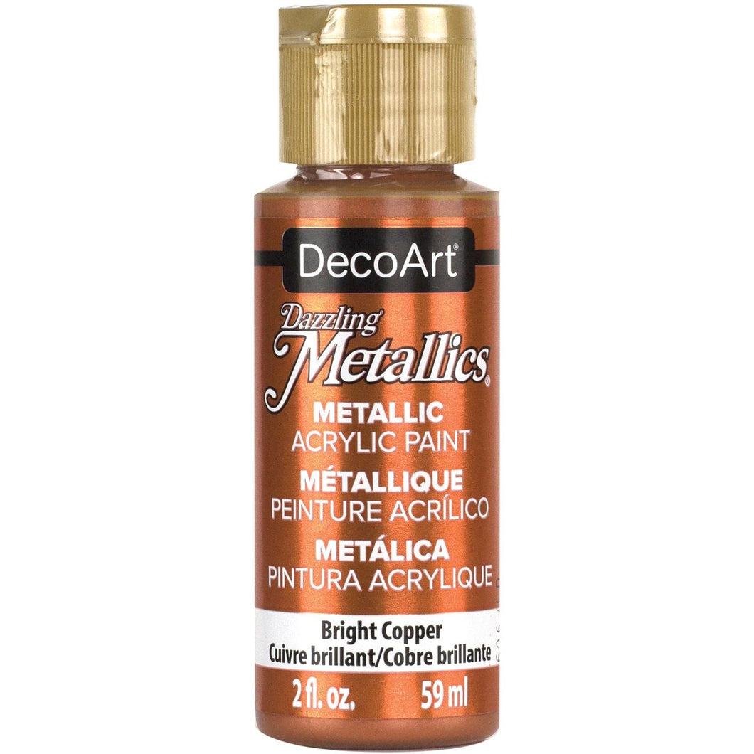 DecoArt 2 fl. oz. Bright Copper Dazzling Metallics Acrylic Paint