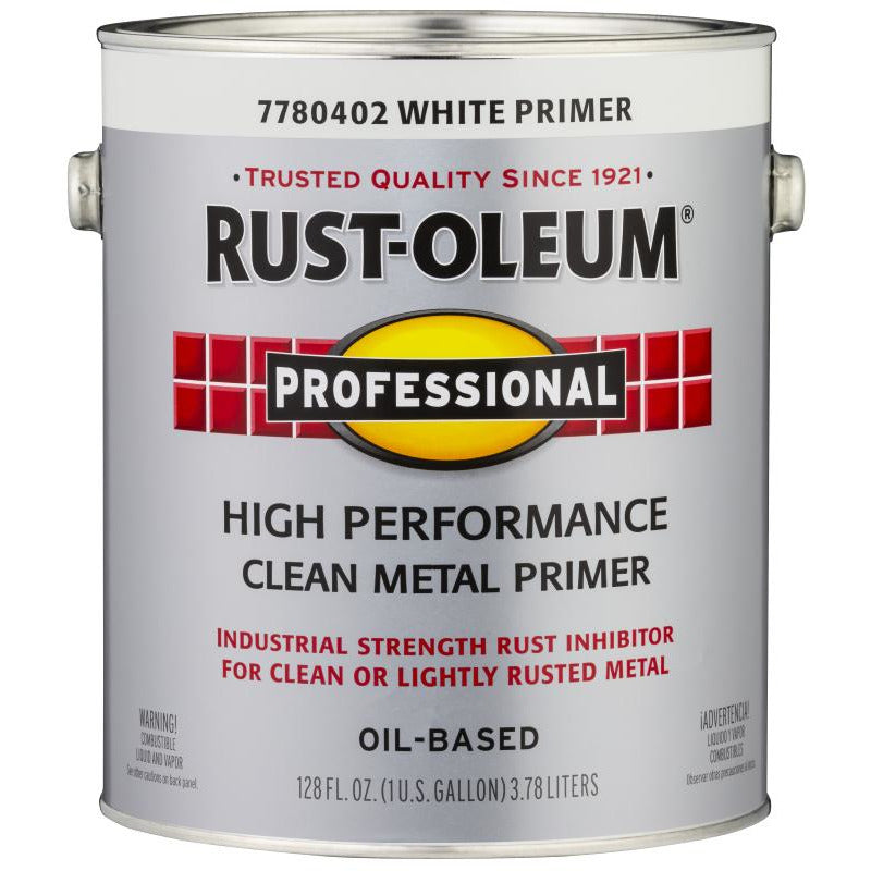 Rust-Oleum Professional 1 Gallon White High Performance Metal Primer