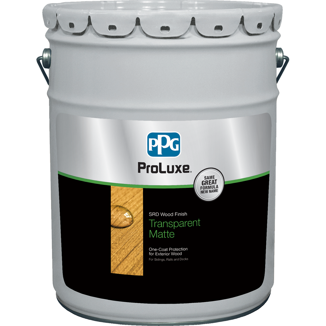 PPG ProLuxe 5 Gallons Natural Oak SRD Wood Finish Transparent Matte