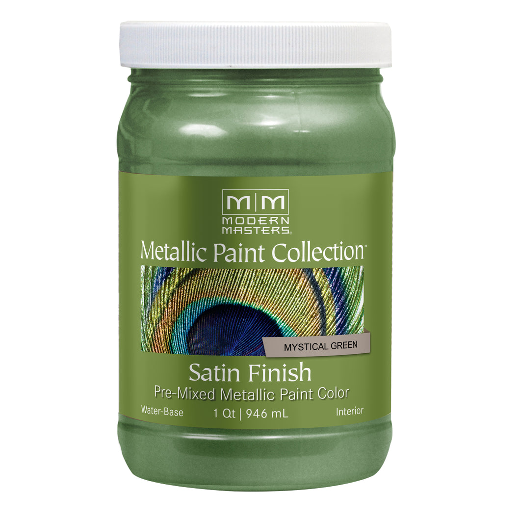 Modern Masters 32 fl. oz. Mystical Green Satin Metallic Paint