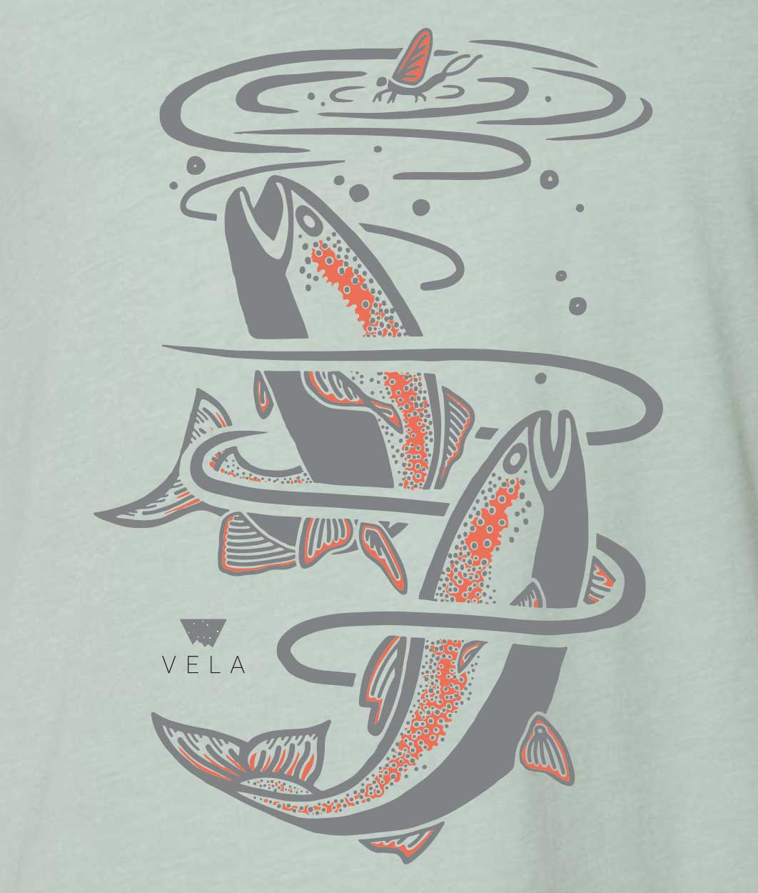 Trout T-shirt | River Blue
