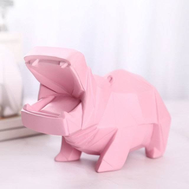 Tirelire Hippopotame Rose