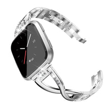 Load image into Gallery viewer, TOYOUTHS Bling Bracelet Fitbit Versa/Versa 2 Bands for Women Stainless Steel Wristbands Replacement for Versa Lite Edition/Versa SE Accessories Dressy Metal Strap Bangle