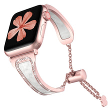 Load image into Gallery viewer, TOYOUTHS Apple Watch Band Sparkle Bling Jewelry Cheetah Stainless Steel SeriesSE 6 5 4 3 2 1