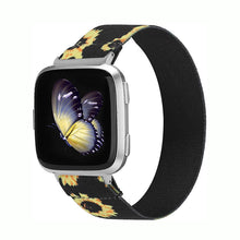 Load image into Gallery viewer, TOYOUTHS Elastic Band Fitbit Versa/Versa 2 Scrunchie Bands Fabric Nylon Sport Stretchy Strap Fashion Handmade Versa Lite Special Edition Bracelet Wristband Accessories Women Men