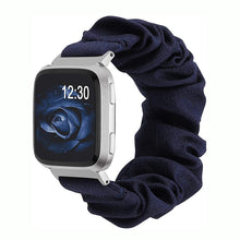 Load image into Gallery viewer, TOYOUTHS Scrunchie Bands Fitbit Versa/Versa 2/Versa Lite Special Edition Women Girl Elastic Stretch Fabric Strap Pattern Printed Scrunchy Replacement Bracelet Wristband Accessories