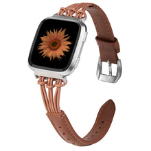 Load image into Gallery viewer, TOYOUTHS Leather Strap Fitbit Versa/Versa 2/Versa Lite Bands Women Men