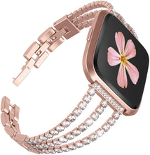 Load image into Gallery viewer, TOYOUTHS Fitbit Versa/Versa 2 Bands Women Stainless Steel Jewelry Bracelet