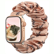 Load image into Gallery viewer, TOYOUTHS Apple Watch Scrunchies Band Inspirational Women Personalized Gift for Bracelet Elastic Cloth Scrunchy Series 6 5 4 3 2 1