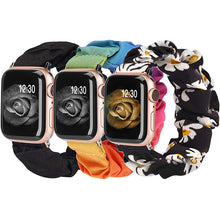 Load image into Gallery viewer, TOYOUTHS 3 Packs Apple Watch Band Scrunchies Cloth Soft Pattern Printed Fabric